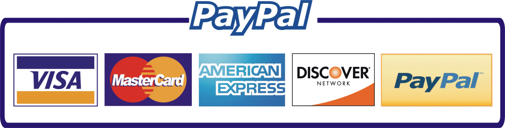 Paypal and credit card logo icon