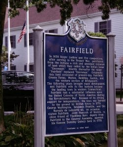 Fairfield Connecticut Blue Marker Sign