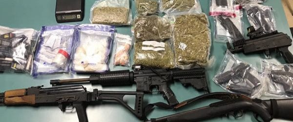 drug trafficking bail bonds - money with drugs and guns
