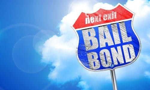 bailbond, 3D rendering, blue street sign